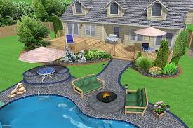 Budget Backyard Landscaping Ideas Outdoor Pool Landscaping Front And Backyard Landscaping Backyard