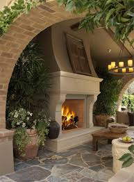 furniture fireplace wonderful rustic home interior decoration