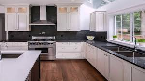 white kitchen cabinets with black countertops kitchen designs white cabinets black countertops gif maker daddygif see description