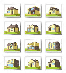house types various types of houses stock vector angelha 41640697