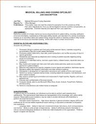 Job Resume Format For Doctors by Sample Resume For Medical Billing And Coding Template