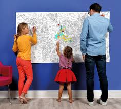 giant xxl coloring poster atlas