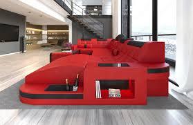 couch u form wohnlandschaft wave u form luxus couch garnitur mit led rgb