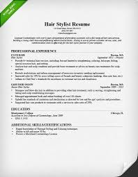 Resume Duties Examples by Hair Stylist Resume Sample U0026 Writing Guide Rg