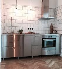 ikea edelstahl küche edelstahlarbeitsplatte industriestil ikea metod grevsta küche
