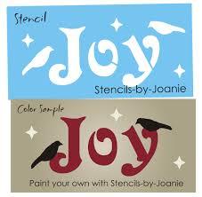 stencil joy primitive crows stars winter seasonal country holiday