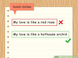 how to write a love poem with example poems wikihow