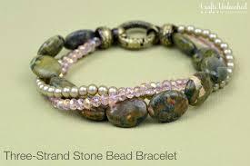 beads bracelet diy images Diy bead bracelet three strand crafts unleashed jpg