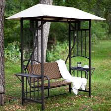 patio furniture gazebo coral coast bellora 2 person gazebo swing natural resin wicker