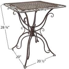 Iron Bistro Table Titan 3 Bistro Table Chair Dining Set Outdoor Patio Rustic