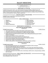 Resume Examples For Cna by Free Sample Certified Nursing Assistant Resume Creative Resume