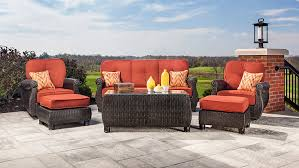 Outdoor Modern Chair Living Room Outdoor Deep Seating Sofa With Sunbrella Pillows And
