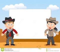 kids cowboy background