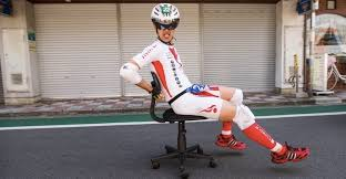 Helmet Chair See Hilarious Race Photos From Japan U0027s Office Chair Grand Prix