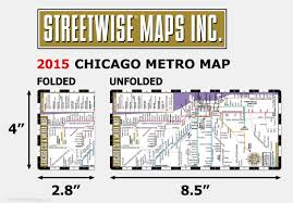 Metro Map Chicago by Streetwise Chicago Cta U0026 Metra Map Laminated Chicago Metro Map