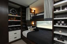 queen bed under loft bed transitional boy u0027s room