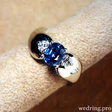 sapphire wedding ring wedding rings with blue sapphire of a stunning design