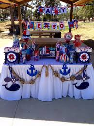 anchor baby shower ideas nautical baby shower party ideas photo 2 of 8 catch my party