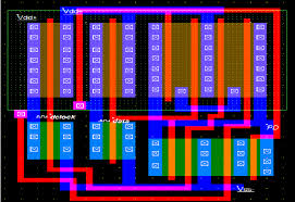 layout design cmos cmos design layout of xor phase detector scientific diagram