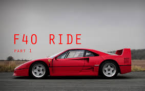 f40 bhp ride warming up a f40 part 1