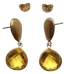 ruby drop earrings ruby rd yellow drop earrings tradesy