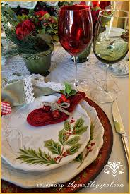 christmas tablescapes http rosemary thyme blogspot com 2014 12