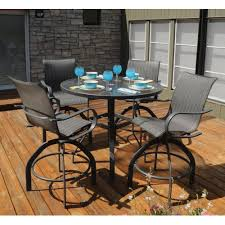 Outdoor Bar Table Set Homecrest Holly Hill Sling Patio Bar Table Set With Swivel Bar