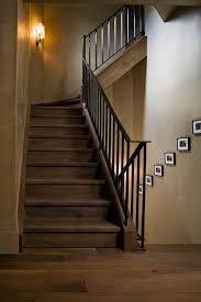 new york iron stair railing staircase contemporary with hardwood