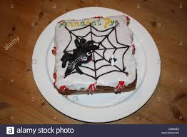 halloween birthday cake for a 7 year old stock photo royalty