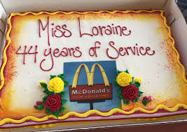 loraine maurer 94 has been working at mcdonalds for 44 years