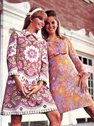 floral patterned dresses c late 1960s fashion 1960s