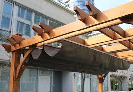 breeze pergola with retractable canopy10 u0027x10 u0027cedar