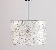 Capiz Light Pendant Pottery Barn Marina Capiz Shell Drum Pendant Chandelier Ebay