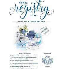 only wedding registry event at dillard s