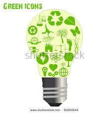 eco friendly light bulbs image various ecofriendly icons inside light stock photo photo