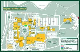 Map Of U About Regina U0027s Edible Campus