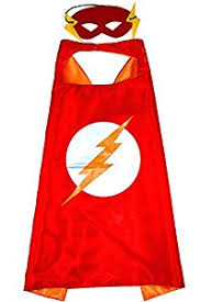 flash cape and mask for kids superhero boys girls superheroes