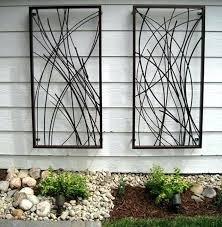 outdoor decorative metal wall panels metal garden wall art wall