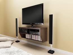 floating shelf under tv for media console decofurnish