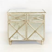 Silver Leaf Nightstand Humphrey Two Drawer Two Door Antique Mirror Cabinet With Silver