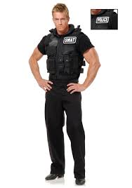 Army Halloween Costumes Mens Swat Team Business