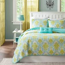 shop mizone katelyn teal bed set the home decorating company