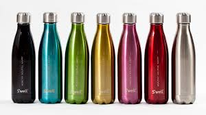 u0027well stainless steel insulated water bottle green head