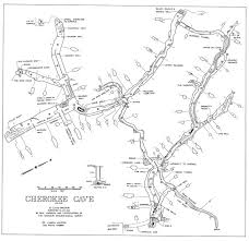 missouri caves map detailed map of the cave system cave and
