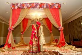 mandap decorations indian wedding ceremony fabric mandap floral decor maharani weddings