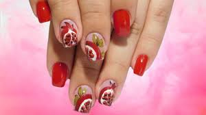 garnet on the nails beautiful and simple spring nail design top