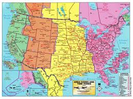United States Of America Maps by Large Detailed Map Of Area Codes And Time Zones Of The Usa Usa