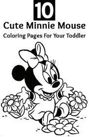 mini mouse coloring page coloring pages for kids online 7366