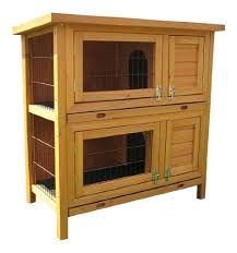 Double Rabbit Hutches Bunny Business Double Rabbit Hutch With Sliding Tray 36 Inch