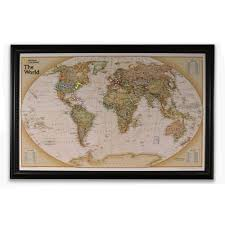 World Map Push Pin Board by Personalized Framed Maps National Geographic Store